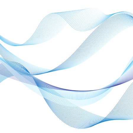 Marine pattern with stylized blue waves on a light background. Water Wave abstract design. Иллюстрация