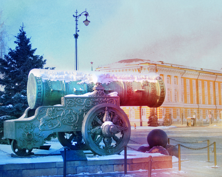 晴れた日のモスクワ・クレムリンの大砲王の写真 写真素材