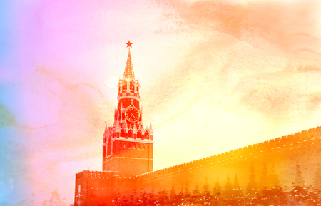 Photos of the Moscow Kremlin with a sunny winter day Stock fotó