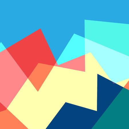 抽象的な幾何学的多色イラスト