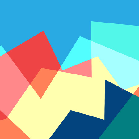 Abstract geometric multicolored illustration