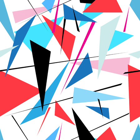 Vector abstract multicolored geometric pattern on a white background Reklamní fotografie - 97116929