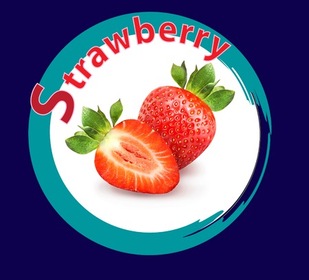 Photo de fraises vives macro Banque d'images - 98593282