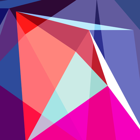 Abstract geometric multicolored background with broken shapes for design.