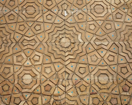 Background about oriental asian wooden ornament on the door Standard-Bild - 100626403