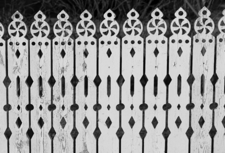 Photo white lace fence