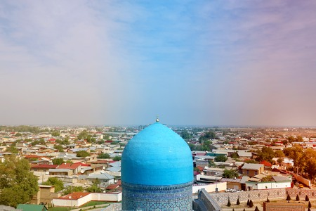 Photo of landscape view from the top attractions of the panorama of Samarkand sunny day