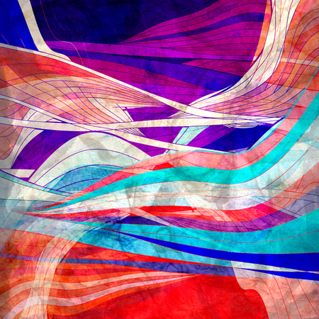 Abstract watercolor bright background with different colorful wave elements Stock fotó - 101522689