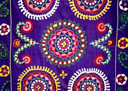 Photo of a beautiful bright East natural ornament for fabrics Standard-Bild