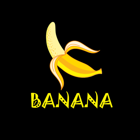 Vector illustration of yellow banana