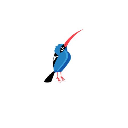Vector illustration of a blue bird Çizim