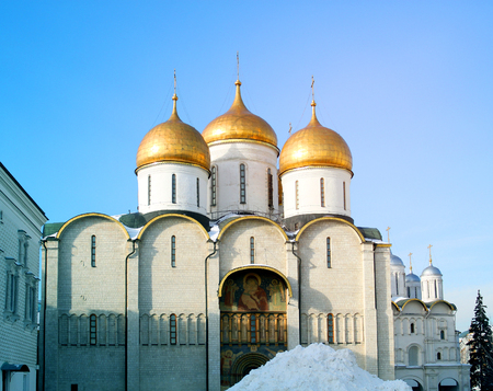 Photo of the Assumption Cathedral in the Moscow Kremlin