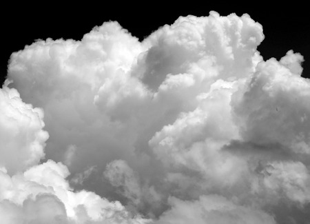 Photos of beautiful white clouds on a Sunny day in the sky