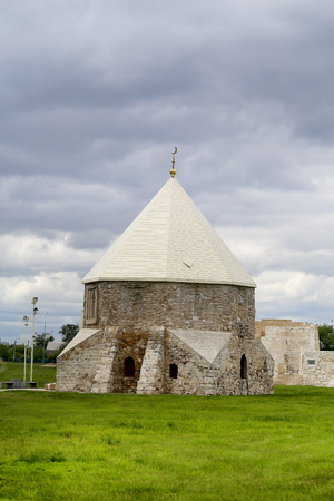 hoto of the beautiful ancient east mausoleum in Bolgar Tatarstan Stock Photo
