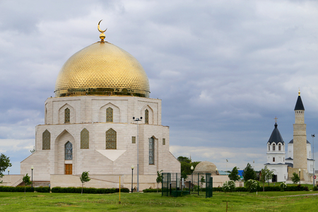 Photo of a beautiful monument of acceptance of Islam in Tatarstan
