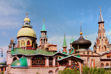 Photo of the beautiful temple of all religions in Tatarstan 版權商用圖片