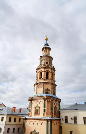 Photo of a beautiful bell tower of the church in Kazan Banco de Imagens
