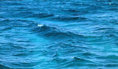 Photo of a macro of blue sea waves
