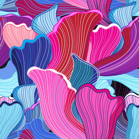 unusual fantasy bright colorful wavy abstract design elements Çizim