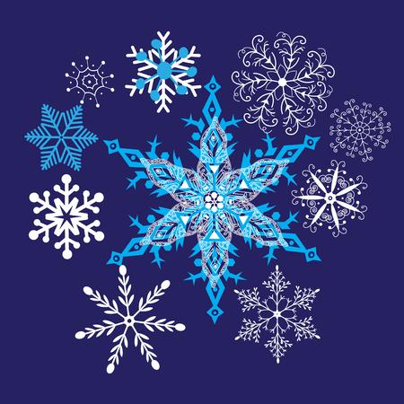 Heller Winterhintergrund mit schönen Schneeflocken