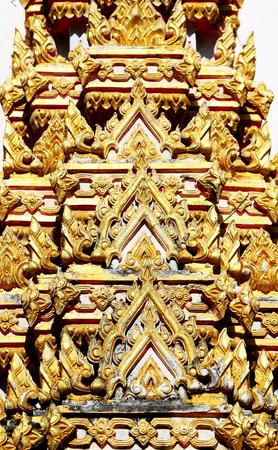 Photo macro texture of beautiful gold pattern Asia 스톡 콘텐츠 - 106684867