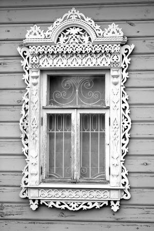 Photo of a beautiful macro platbands on a window