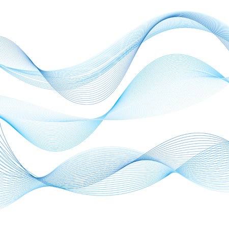 Blue vector wave