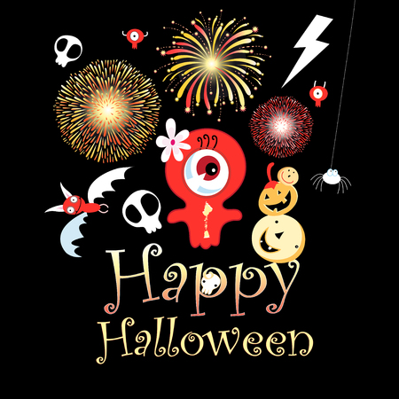 Festive Greeting Card for Halloween. An example for a business card poster or web design.