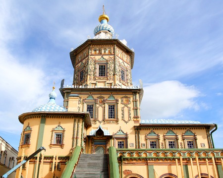 Miracle Beautiful Orthodox church ancient in Kazan Russia.