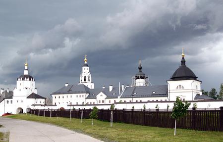Photo of beautiful temples on the island in Sviyazhsk Tatarstan