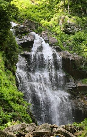 Photo of a beautiful macro waterfall in Sochi Russia in summer