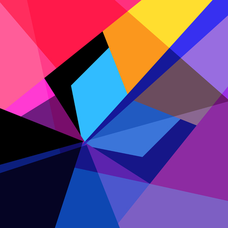 Abstract interesting colorful multicolored background with geometric shapes