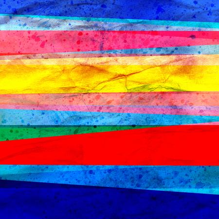 Rayas de fondo geométrico abstracto de color retro acuarela arte. Foto de archivo