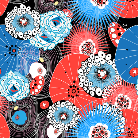 Graphical abstract seamless pattern of different elements