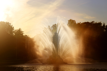 Photo of a beautiful macro fountain VDNH Moscow Reklamní fotografie
