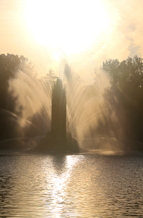 Photo of a beautiful macro fountain VDNH Moscow