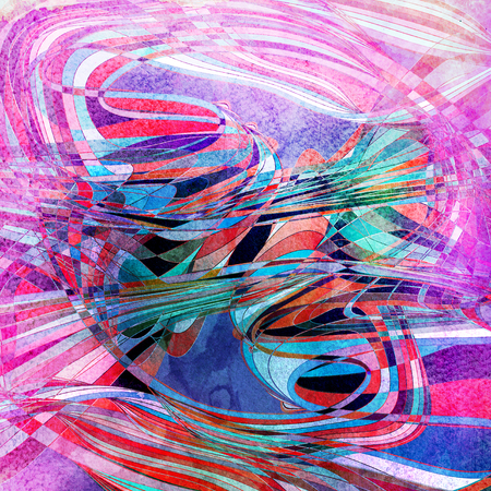 Abstract super colored background with multicolored wavy elements Stok Fotoğraf