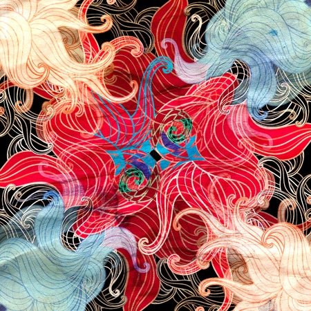 Abstract super colored background with multicolored wavy elements 写真素材