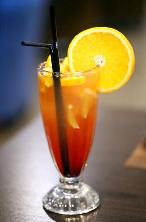 Macro photo of bright tasty cocktails in a restaurant Reklamní fotografie