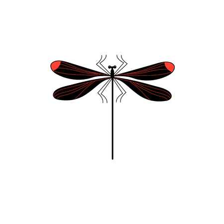 Vector symbol of isolated dragonfly sign on a white background  イラスト・ベクター素材