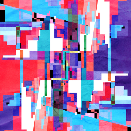 Abstract bright multicolored geometric pattern elements. An example of different shapes and elements for web design and posters.