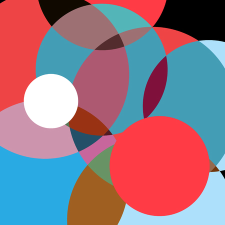 Abstract super colorful background with circles superimposed on each other. Design for web site or poster. 일러스트