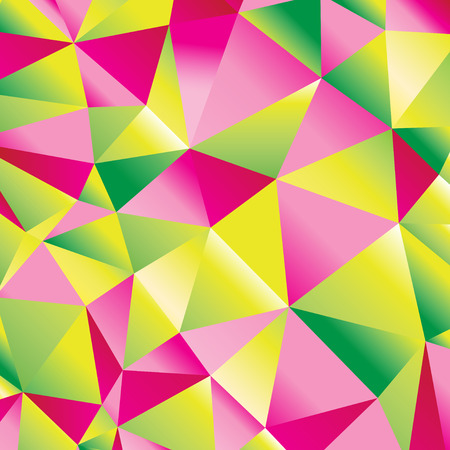 Seamless beautiful abstract geometric pattern of bright triangles and polygons Illustration