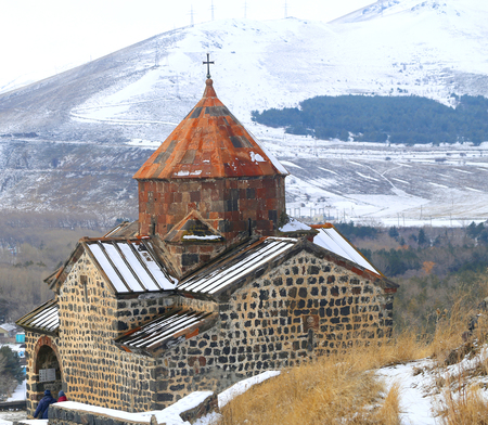 Photo of a beautiful Armenian ancient temple
