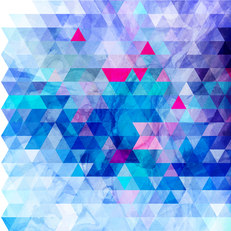Abstract watercolor background with geometric color objects and interesting shapes Stock fotó
