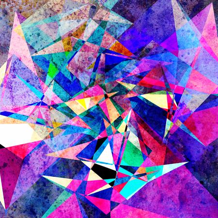 Fondo geométrico abstracto acuarela color retro. Un ejemplo para el diseño de carteles postales. Foto de archivo