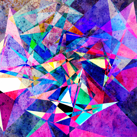 Watercolor retro color abstract geometric background. An example for the design of posters postcards. Banco de Imagens