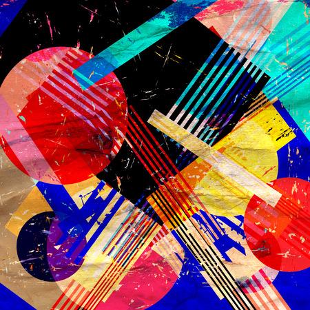 Fondo geométrico abstracto acuarela color retro. Un ejemplo para el diseño de carteles postales.