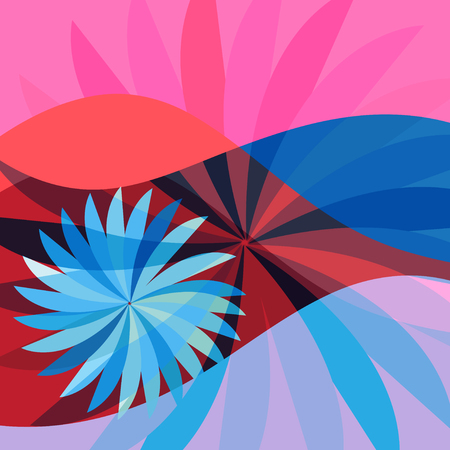 Abstract bright color print background with different elements and shapes