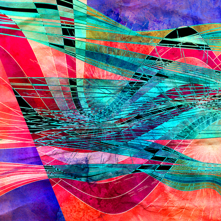 Abstract watercolor multicolored background with different elements Banco de Imagens - 122510195